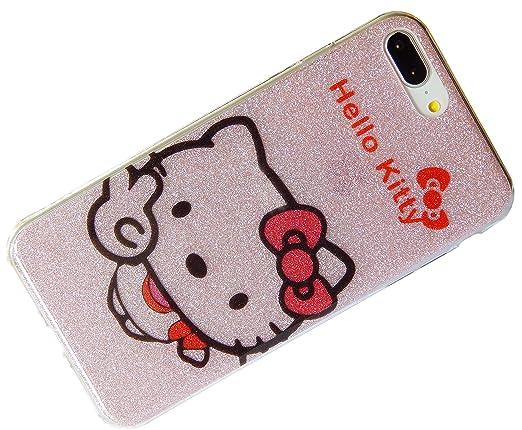Amazon.com: Glitter diseño Hello Kitty Protección Funda ...