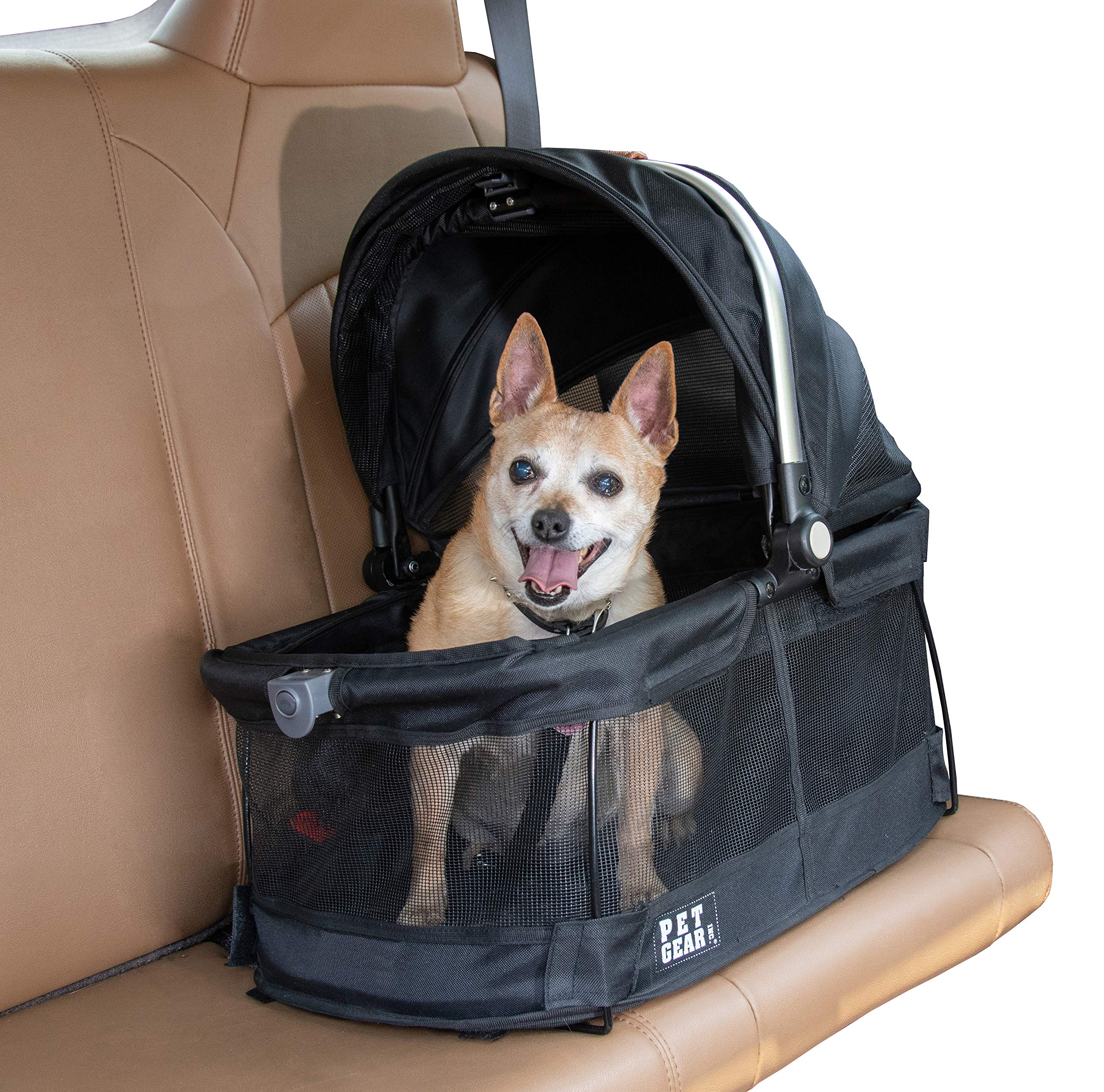 Pet Gear View 360 Pet Carrier & Car Seat for Small Dogs & Cats with Mesh Ventilation for Easy Viewing by Pet Gear