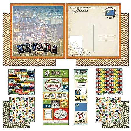 Magical Basic Scrapbook Customs Themed Paper Scrapbook Kit