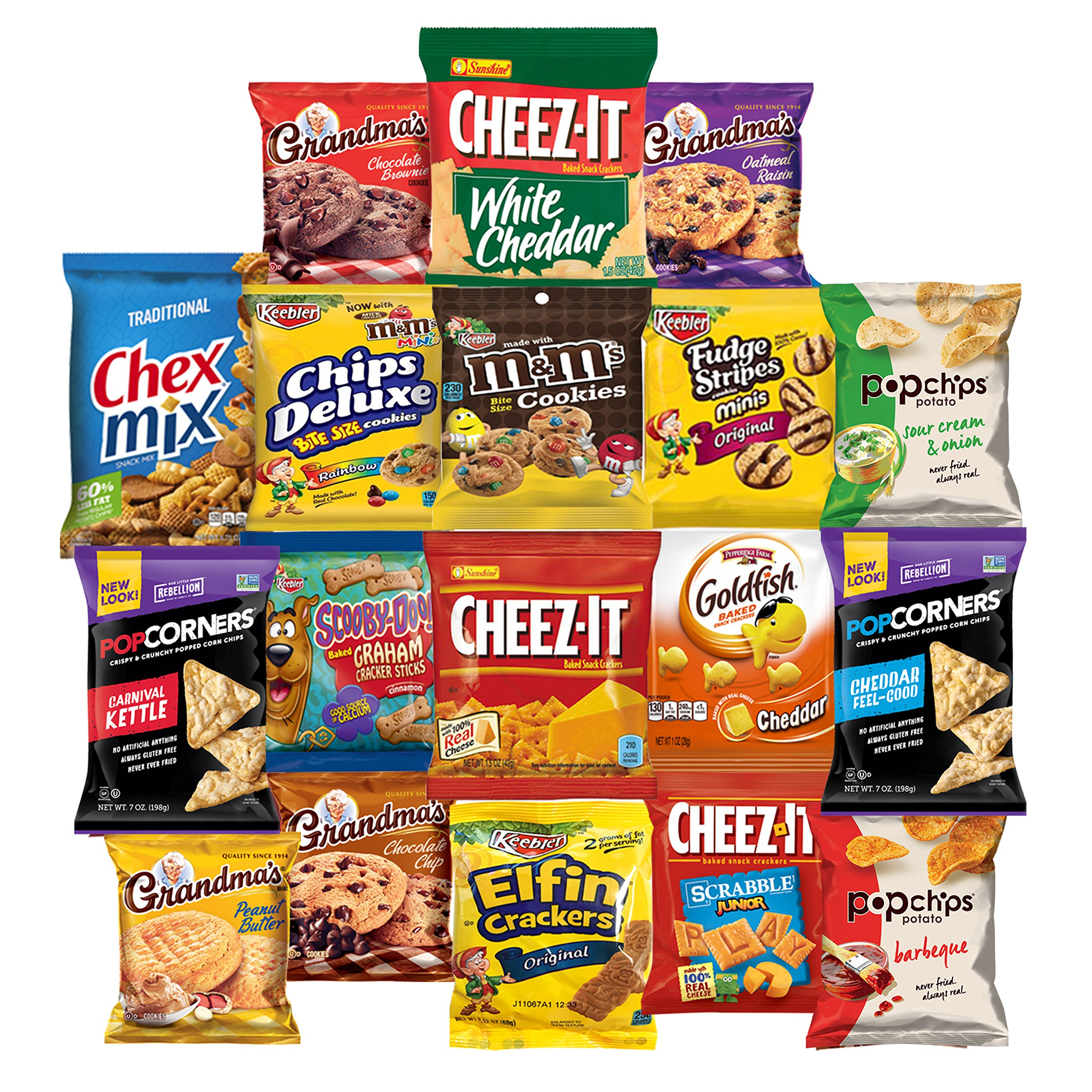 Cookies, Chips & Candies Care Package Variety Pack Bundle Sampler (150 Count) by Snack Chest (Image #3)
