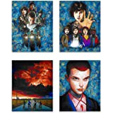 Stranger Things - Deluxe Poster Collection - 011, Dustin, Mike, Lucas, Will - Straight out of Hawkins - Your Favorite Characters from the Netflix TV Show in our Art Print Series - Set of 4 8x10 Photos