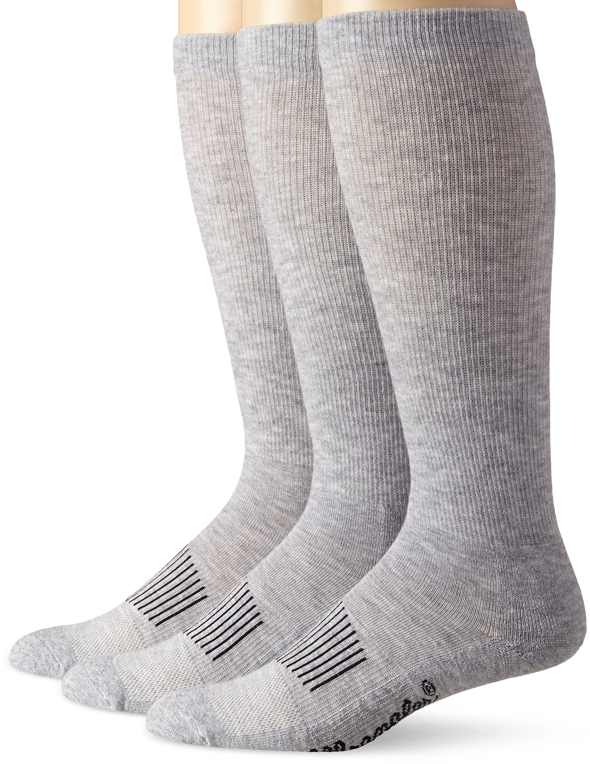 Wrangler Men's Western Boot Socks (Pack of 3),Grey,Sock Size:X-Large(12-15)/Shoe Size: 12-16 by Wrangler