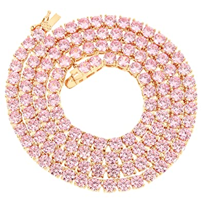 necklace tw jewelry rose and flower sku pink white ruby gold necklaces diamond