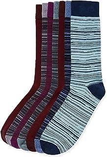 Calcetines Clásicos de Algodón para Hombres y Mujeres de Negocios, 3 pares (Wave Point)