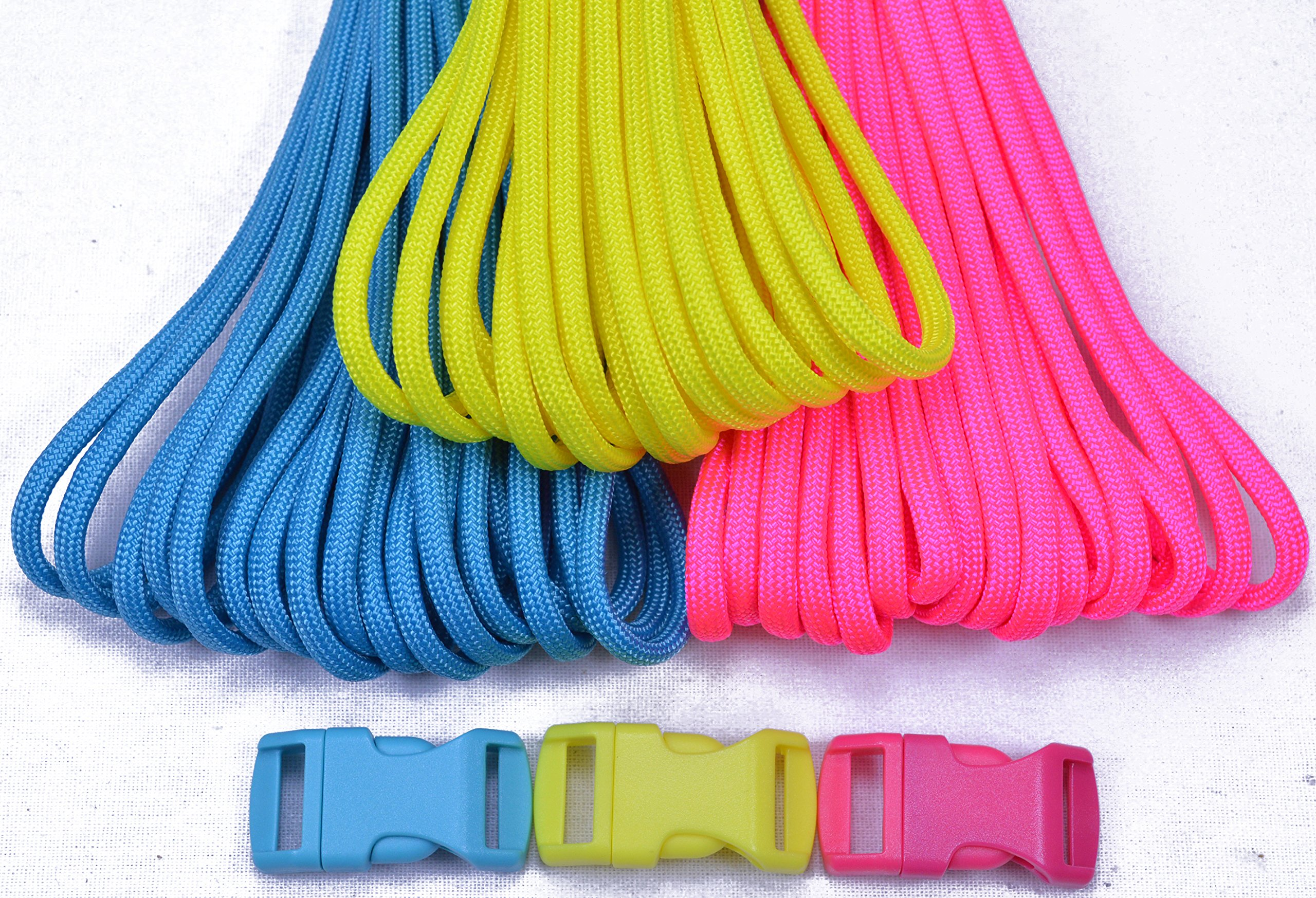 BoredParacord Brand Paracord Starter Kit - Small Neon Combo Kit by BoredParacord