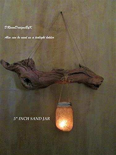 Amazon.com: Driftwood wall art, Driftwood candle holder, Mason Jar ...
