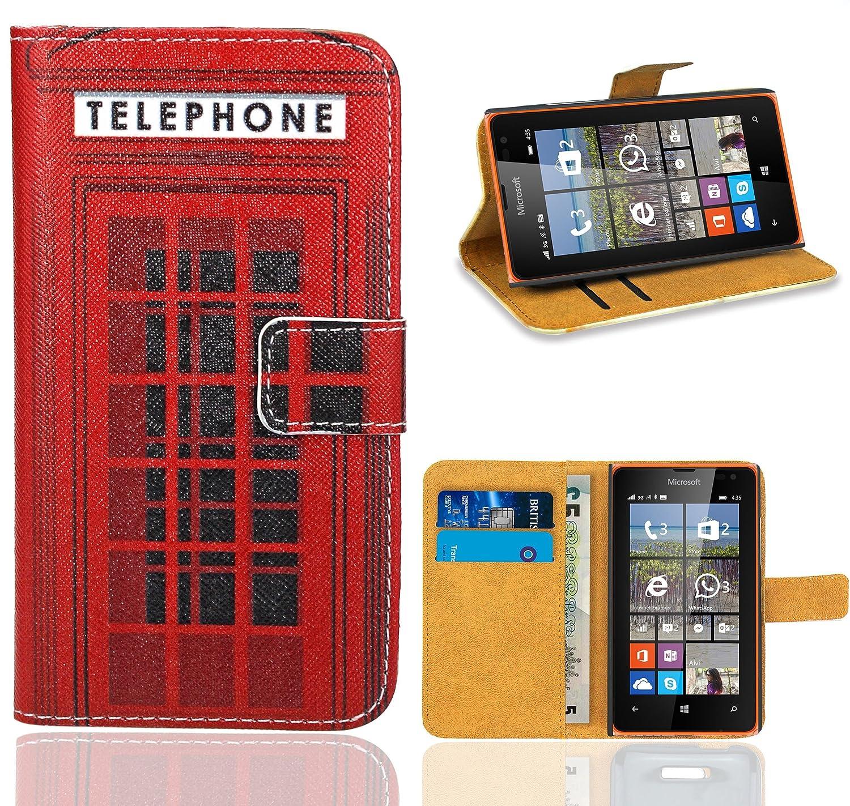 best cheap c3dfb 377a2 Microsoft Lumia 435 Case, FoneExpert® Premium Leather Flip Wallet Bag Case  Cover For Microsoft Lumia 435