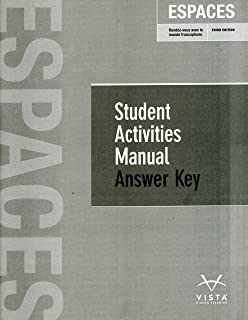Espaces student manual vhl 9781626800366 amazon books espaces 3rd ed student activities manual answer key fandeluxe Choice Image