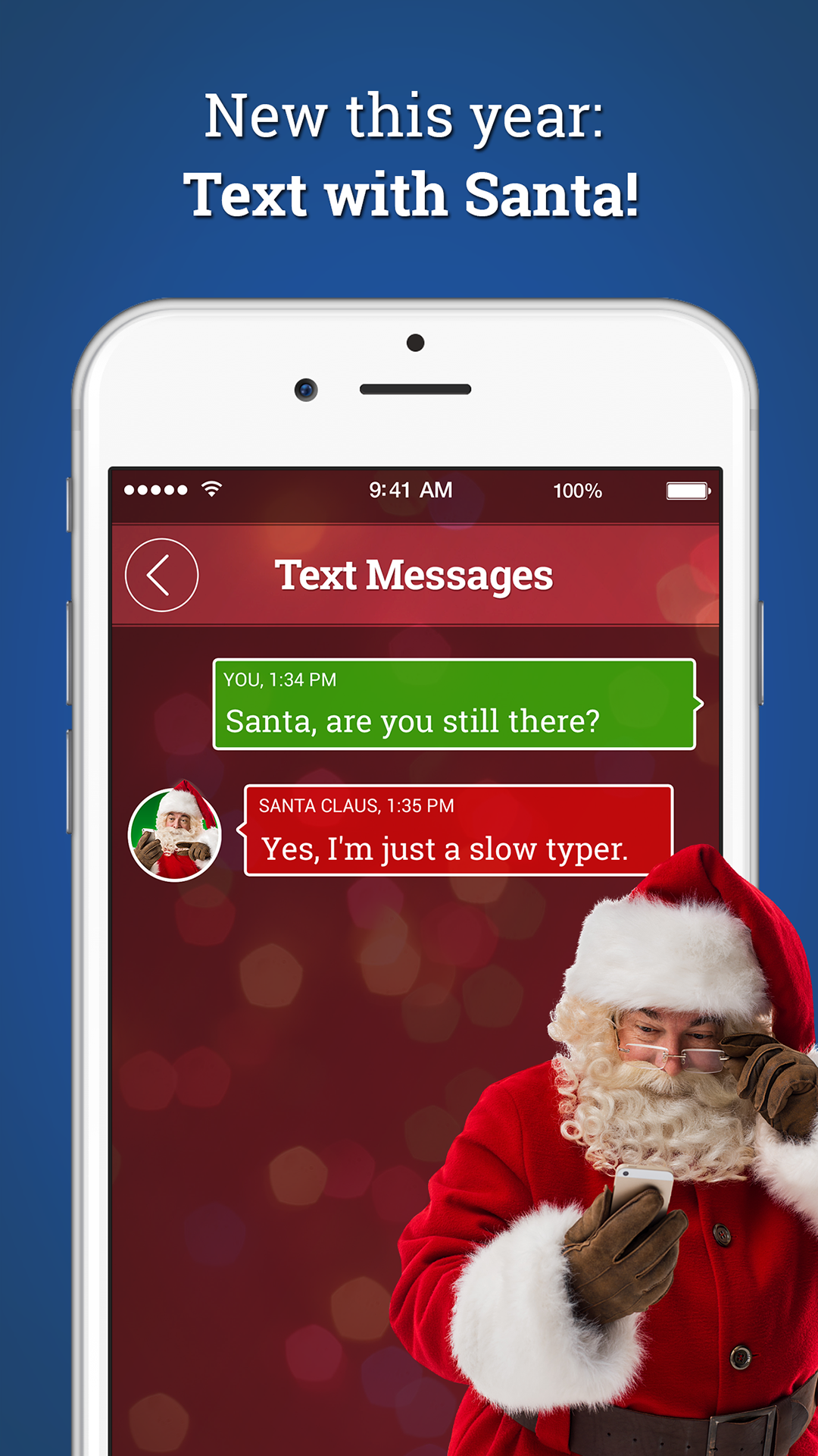 amazoncom a call from santa request a call use his voicemail or send a text appstore for android