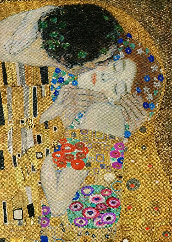 Legendarte P-121 Quadro di  Gustav Klimt - Il Bacio (Dettaglio), Stampa digitale su tela, Multicolore, cm. 80 x 100 P-121_Multicolore stampe; quadri; su; tela