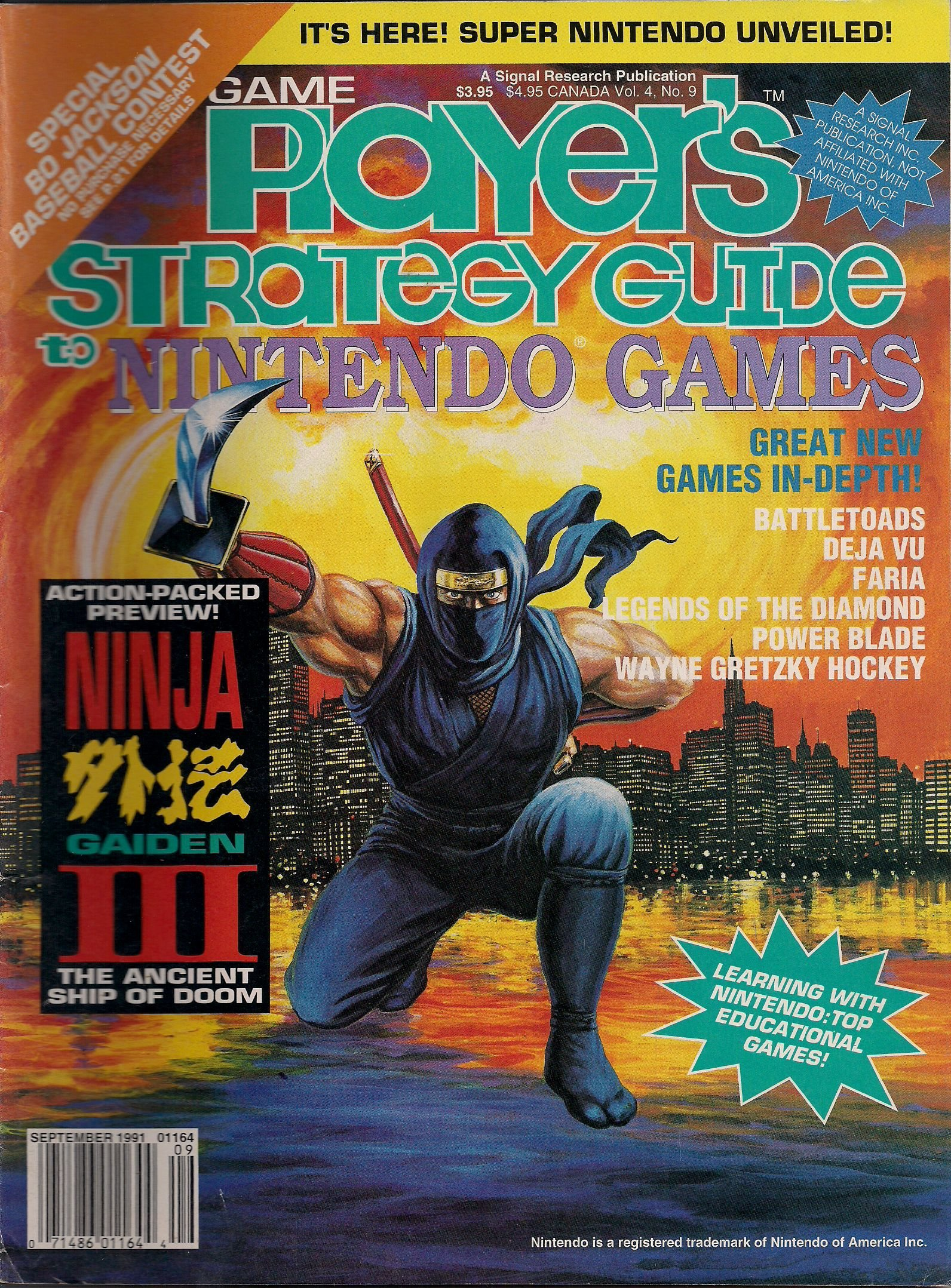 Game Players NINTENDO STRATEGY Guide SEPT 1991 VOL 4 # 9 ...