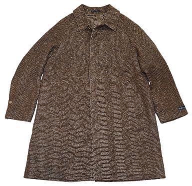 Jacket Wool Herringbone Ralph Lauren Polo Mens Overcoat Italy Coat EWDH2I9