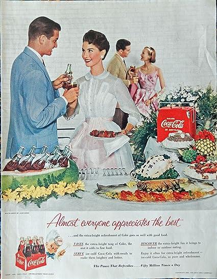 Amazon com: Coca Cola, 50's Print ad  Full page Color