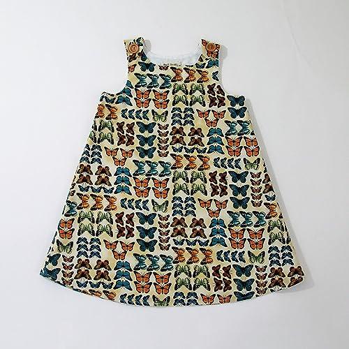 4a9dcdcb5ca6f Amazon.com: Butterfly Baby Girls Dress, Newborn, Sundress, Nature ...