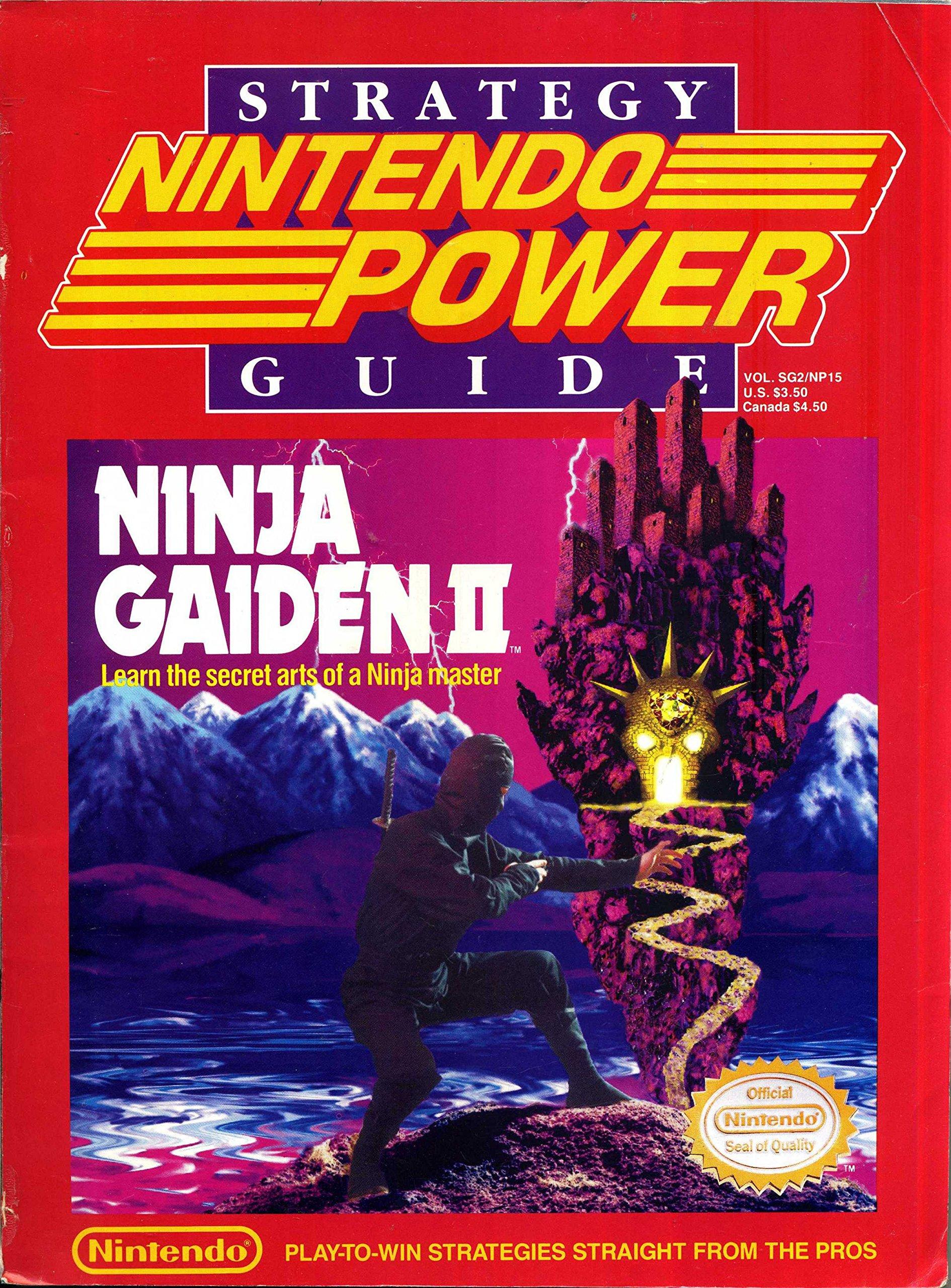 Nintendo Power Strategy Guide Ninja Gaiden 2 Volume Sg2 Np15