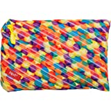 ZIPIT Colorz Big Pencil Case/Cosmetic Makeup Bag, Small Bubbles