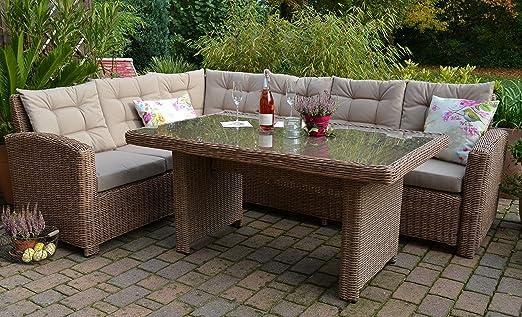 Bomey Conjunto Lounge I Muebles de Jardín (ratán Set Manhattan de 2 piezas I Jardín sofá