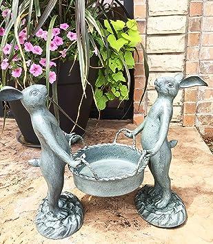 Fahnen 3er Set Gartenstecker Holz 61x20x1cm gr/ün weiss Garten Dekoration