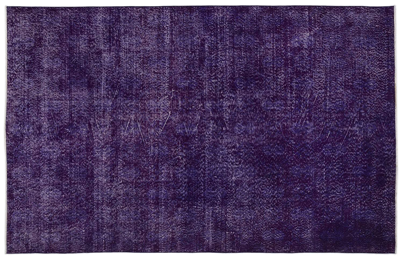 Bespoky ビンテージ 手織 ラグ 紫の 大きいサイズ 183 X 285 Cm   B07HKXXZLH