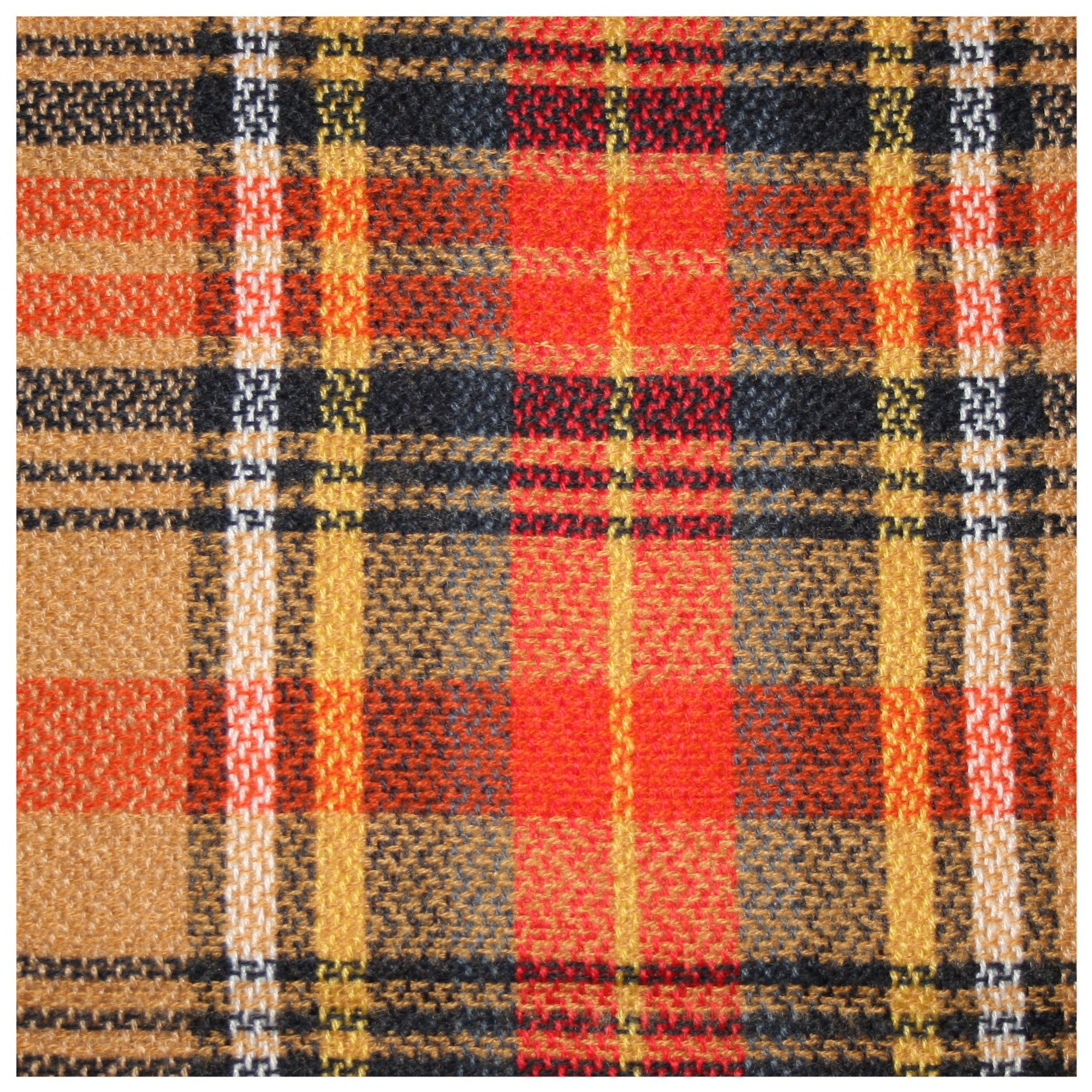 Epic Brand Infinity Scarf Collection for Men and Women | Comfortable Plaid Tartan Cashmere Blanket Circle Winter Scarves (Plaid Orange/Navy Blue) by Epic Brand (Image #2)