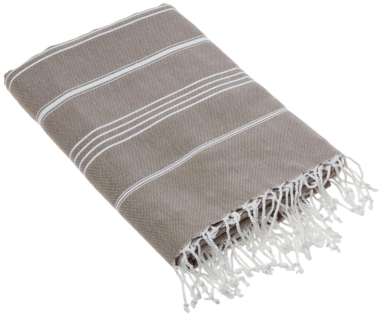 Cacala Pestemal Blanket Throw Turkish Striped Beach Towel Picnic Home Bed 59x79 TM White MULTI-PES-BLANKET-WHITE