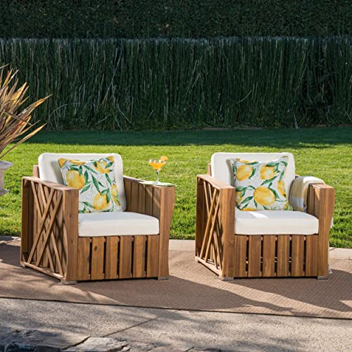 Christopher Knight Home Cadence Outdoor Acacia Wood Club Chair