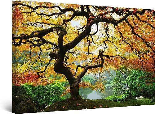 Startonight Wall Art Canvas Maple Tree