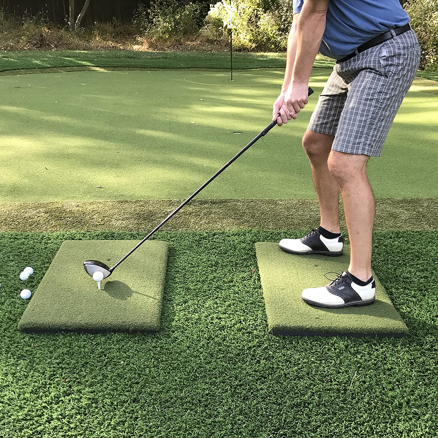 Real Feel Golf Mats The Original Country Club Elite The First Golf Mat That Takes A Real Tee And Lets You Swing Down Through Simulator Indoor