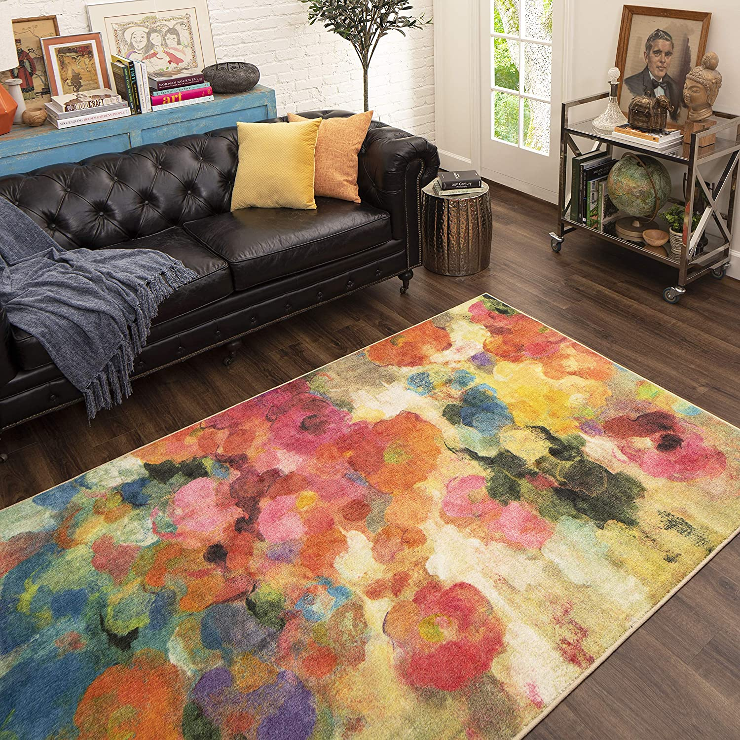 Mohawk Home Blurred Blossoms Area Rug, 8'x10', Multicolor