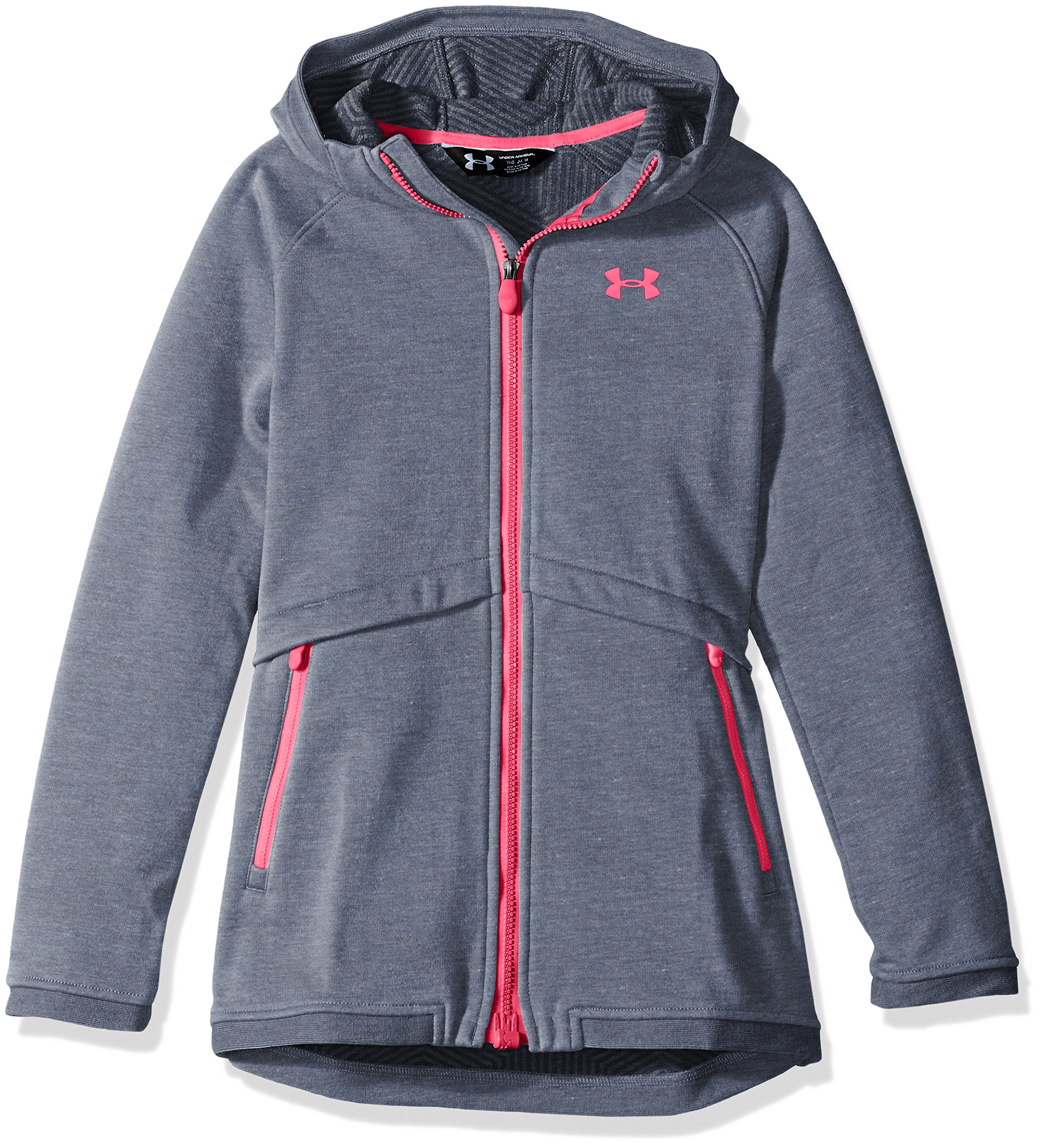 Under Armour Girls' ColdGear Infrared Dobson Softshell, Apollo Gray/Penta Pink, Youth Small