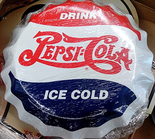 Pepsi Pepsi Deckel 3d Cartel de Chapa Placa metal curvo ...