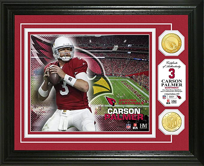 acfbe243 Amazon.com : NFL Arizona Cardinals Carson Palmer Bronze Coin Photo ...