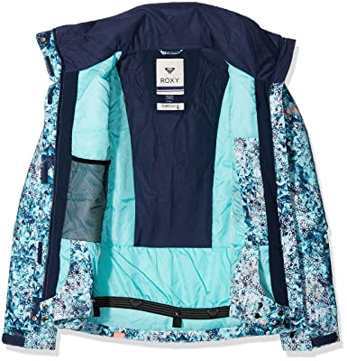 Amazon.com: Roxy Snow Jackets Jet Ski Snow Jacket - Aruba Blue_Kaleidos Flowers: Clothing