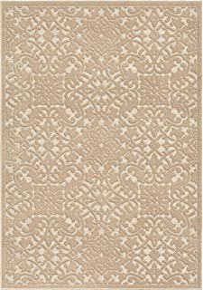 product image for Orian Rugs Boucle Collection 397161 Indoor/Outdoor High-Low Biscay Area Rug, 9' x 13', Driftwood Beige