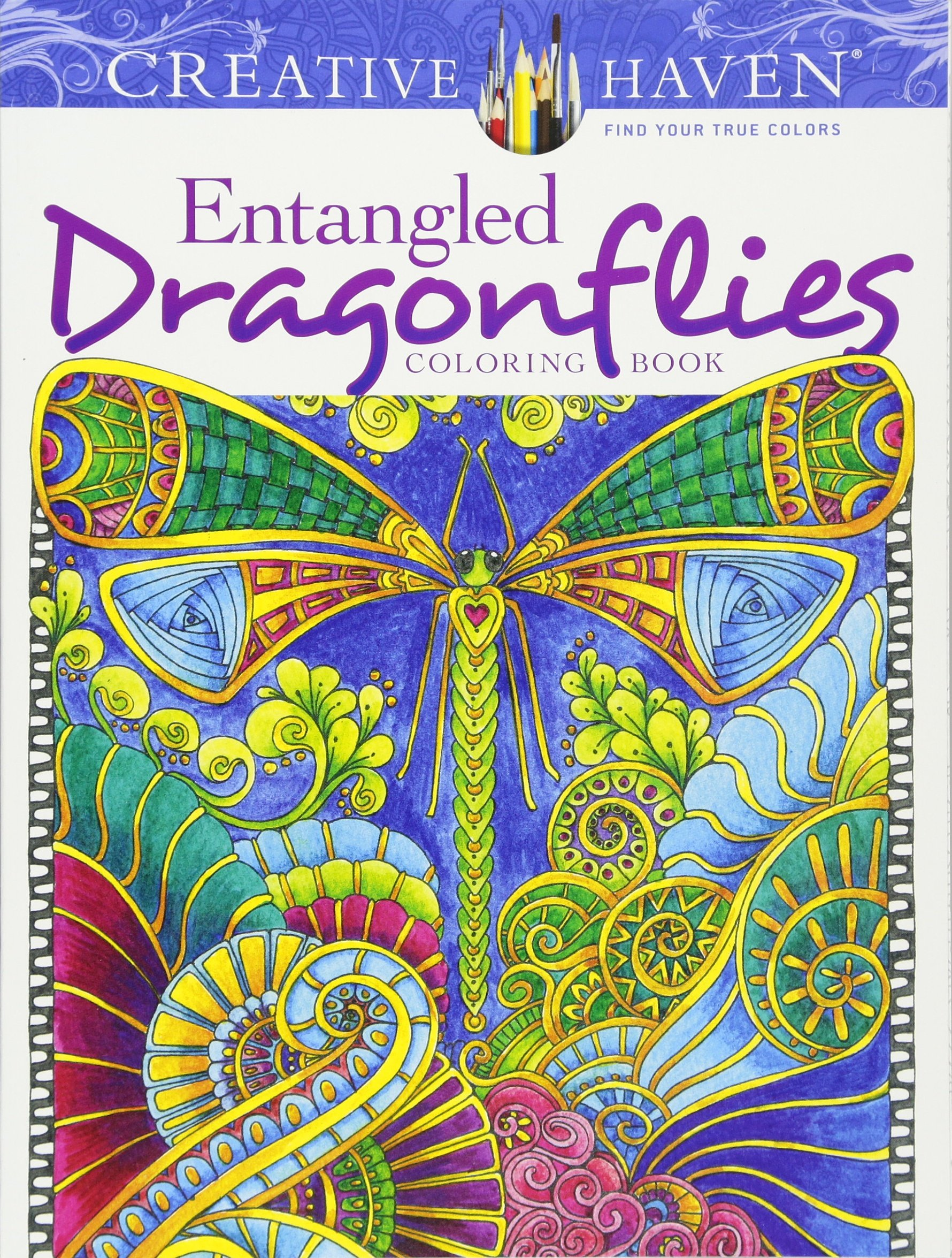 Creative haven entangled dragonflies coloring book adult Coloring books for adults on amazon
