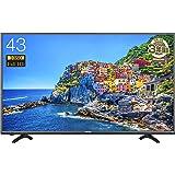 ハイセンス 43V型 フルハイビジョン 液晶 テレビ 外付けHDD録画対応(裏番組録画) メーカー3年保証 HJ43K3120