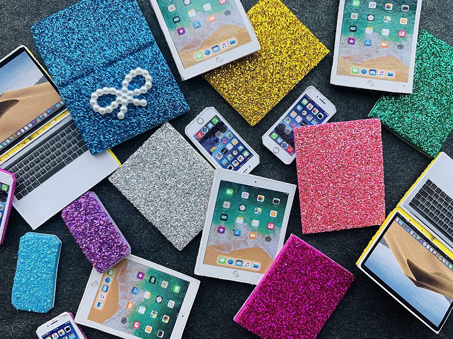 lps Pet Shop lps Cellphone Pad Computer 8pcs Random for lps Cats and Dogs