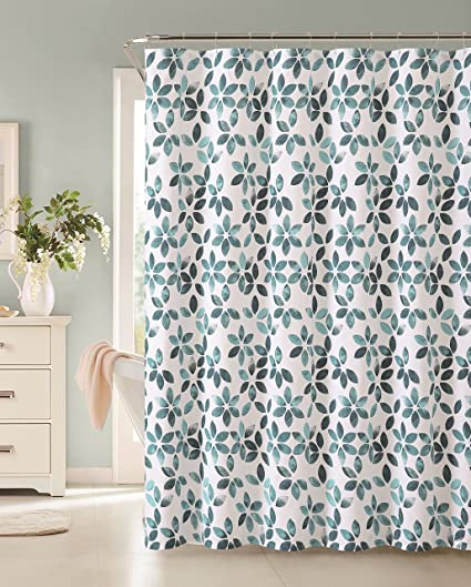 VCNY Veria 100 Cotton Shower Curtain Teal
