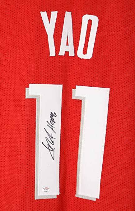 promo code c0a74 3e95b Yao Ming Houston Rockets Signed Autographed Custom Red #11 ...