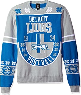 Amazoncom Foco Nfl Mens One Too Many Light Up Sweater Sports