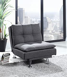 Best Quality Furniture Dark Gray Futon Chair & Amazon.com: This New Contemporary Recliner Chair Compares Well to ... islam-shia.org