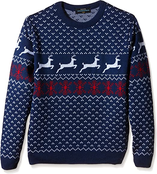 Jersey Azul para hombre Navidad con Renos - Talla XXL