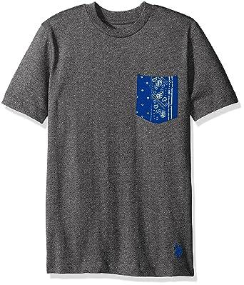 e8f2863d U.S. Polo Assn. Big Boys Short Sleeve Crew Neck T-Shirt with Printed Pocket