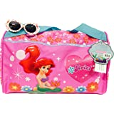 Disney Little Mermaid Ariel Gym Duffle Travel Bag with Bonus Sunglasses Set