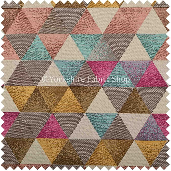 Yorkshire Fabric Shop Exclusiva Tela patrón geométrico de ...