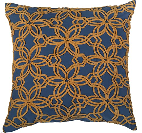 Rizzy Home T06632 Decorative Pillow, 20 X20 , Blue