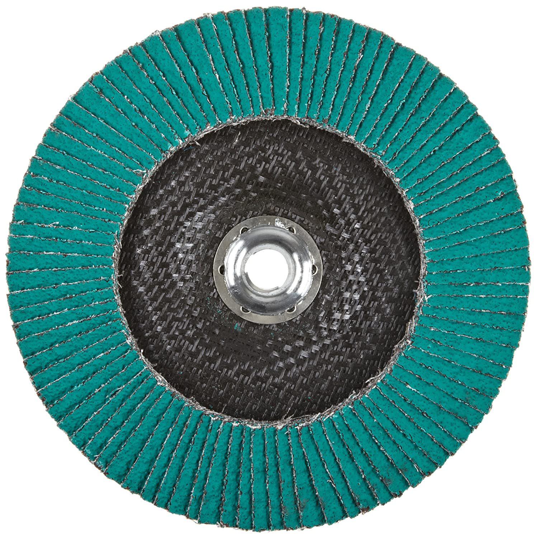 36 Grit Alumina Zirconia T27 Giant 3M Flap Disc 577F Pack of 1 Dry//Wet 5//8-11 Thread Size 7 Diameter