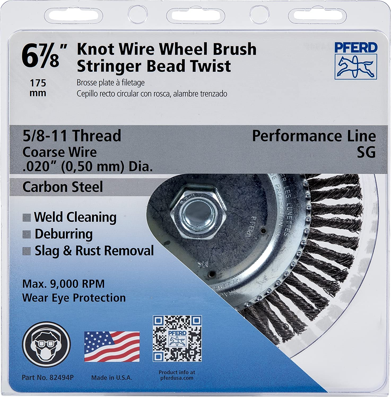 PFERD 82494P Stringer Bead Twist Knot Wheel Brush, Carbon Steel Wire ...