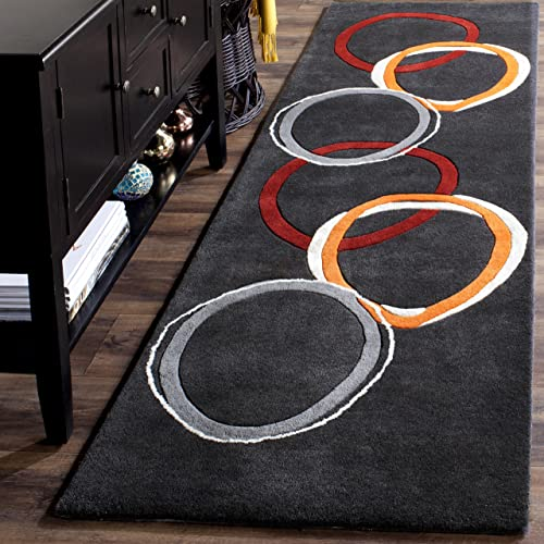 Safavieh Soho Collection SOH306A Handmade Charcoal Premium Wool Runner 2 6 x 12
