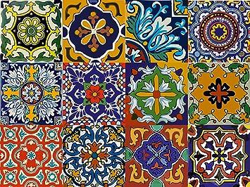 12 Designs Mexican Tile Sticker Peel U0026 Stick Vinyl Für Küche U0026 Badezimmer  Backsplash U003d Packung